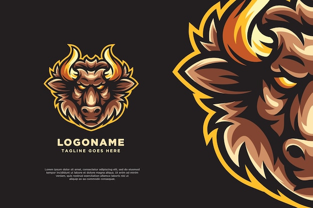Bull logo mascot design