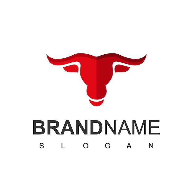 雄牛のロゴのテンプレート牛と農場のシンボル