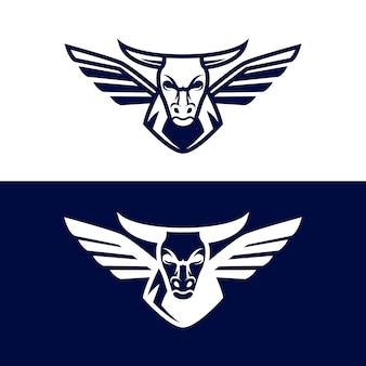 Дизайн шаблона логотипа бык