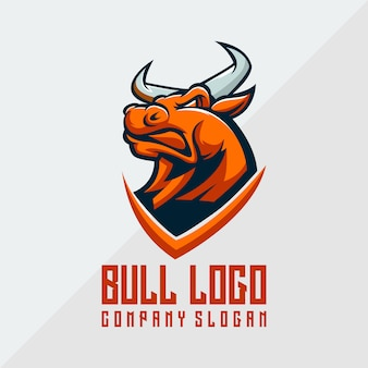 Bull logo vector, animal, template