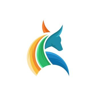 Bull logo vector