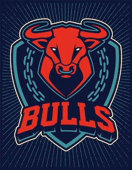 Шаблон эмблемы талисмана быка