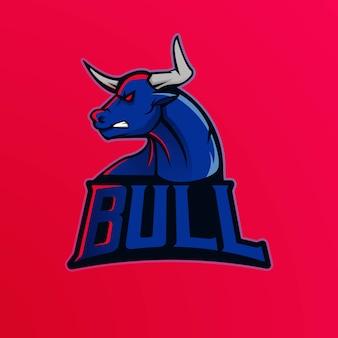 Bull mascot logo design  esport team