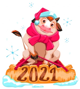 Бык-символ 2021 года.