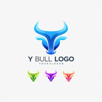 Bull yロゴバッファロー動物