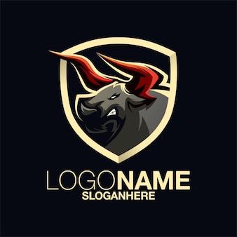 Дизайн логотипа bull