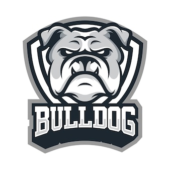 Bulldog animal sport mascot head logo vector