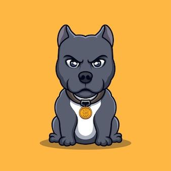 Bulldog crypto creative cartoon logo design