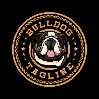Значок bulldog dog logo