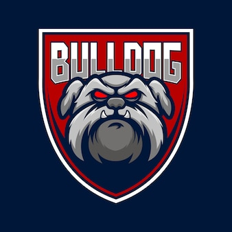 Bulldog dog logo иллюстрация
