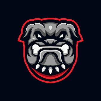 Bulldog esport logo design template