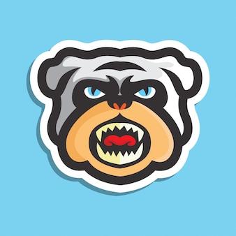 Bulldog head logo  sticker