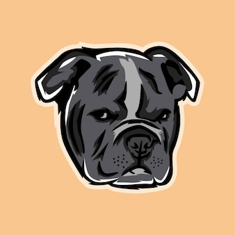 Bulldog illustration modern