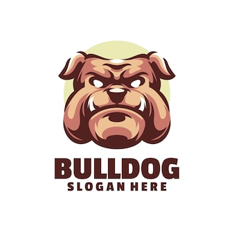 The bulldog logo is suitable for gaming teams or game mascots