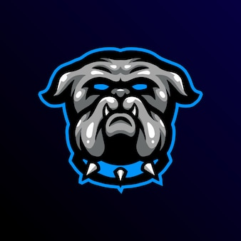 Бульдог талисман логотип игровой киберспорт