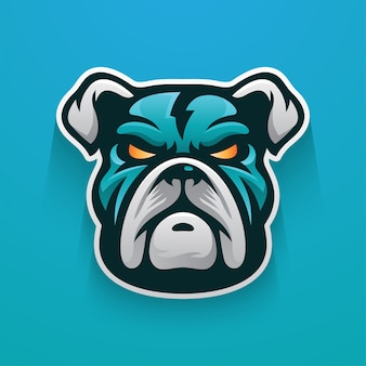 Bulldog thunder logo mascot