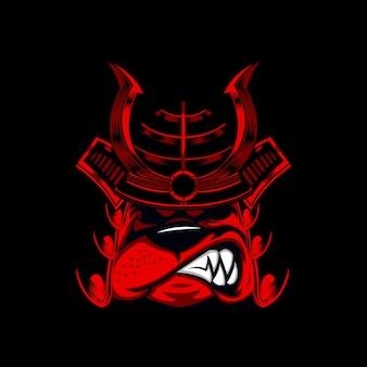 Bulldog warrior illustration