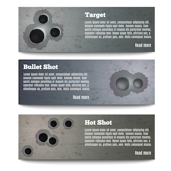 Bullet hole banners collection