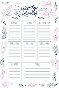 Bullet journal planner modello