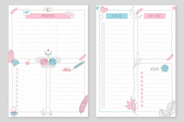 Bullet journal planner modello