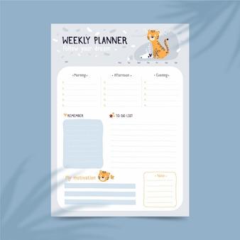 Bullet journal planner template