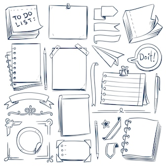 Bullet journal sketch elements