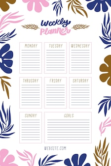 Bullet journal con piante colorate
