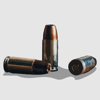 Bullet portrait hand drawn illustrations and vector