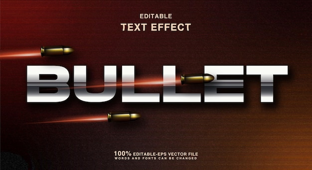 Bullet text style effect