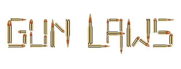 Bullet wording gun laws