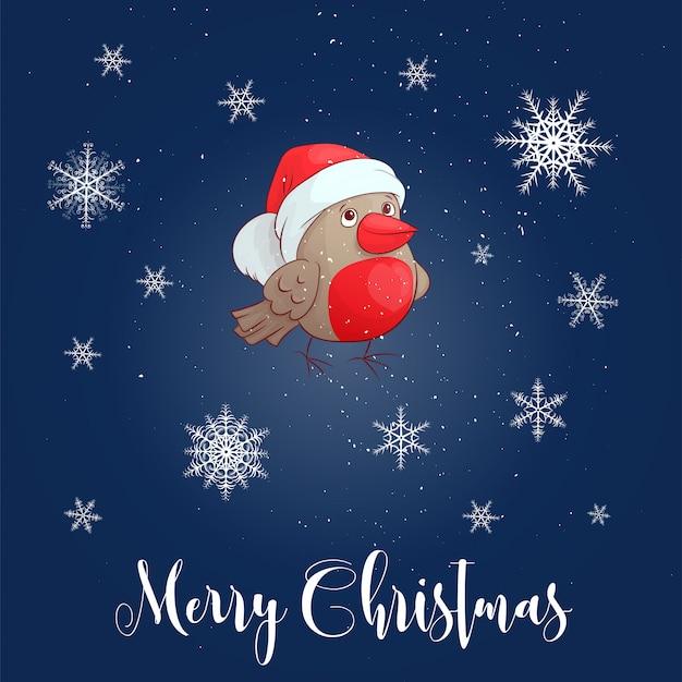 Bullfinchとクリスマスのベクトル図