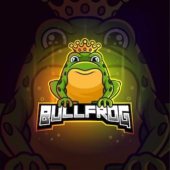 Bullfrog mascot esport colorful logo