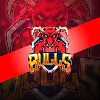 Логотип талисмана bulls esport