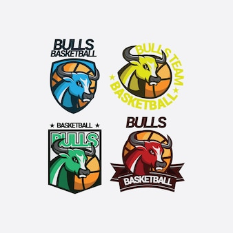 Логотип bulls mascot sport