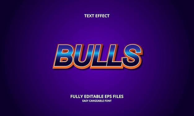 Bulls text effect