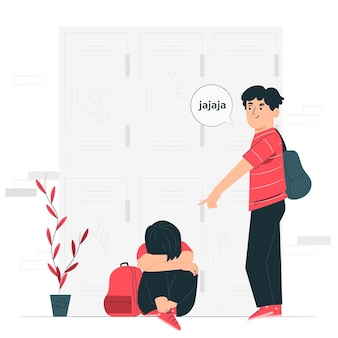 Bullying concept illustration