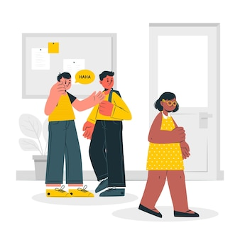 Bullying concept illustration