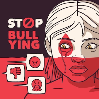Bullying illustration concept