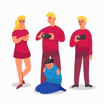 Bullying illustration design
