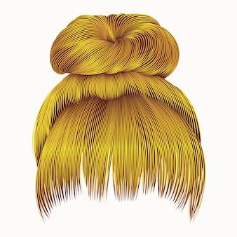 Пучок волосков с бахромой ярко-желтого цвета. женщины