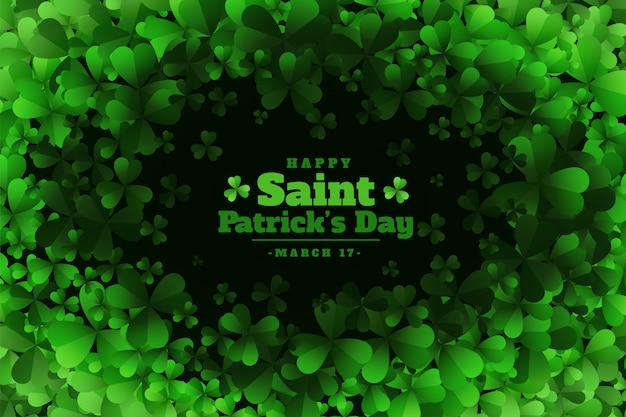 Bunch of clover leaves st. patricks day background