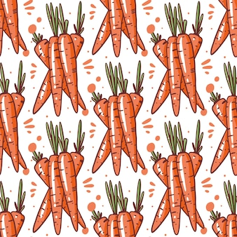 Пучок моркови. бесшовные векторные иллюстрации. изолированные на белом фоне.
