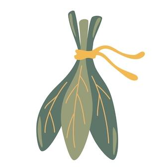 新鮮なほうれん草の束。リボンで結ばれた新鮮な葉の束。健康的な食事、ベジタリアン料理。