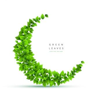Букет из листьев в форме полумесяца