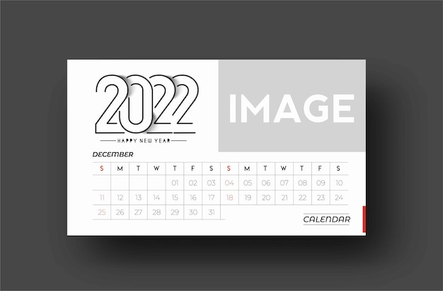 Bundel of happy new year 2022 calendar - new year holiday design elements for holiday cards, calendar banner poster for decorations, vector illustration background.