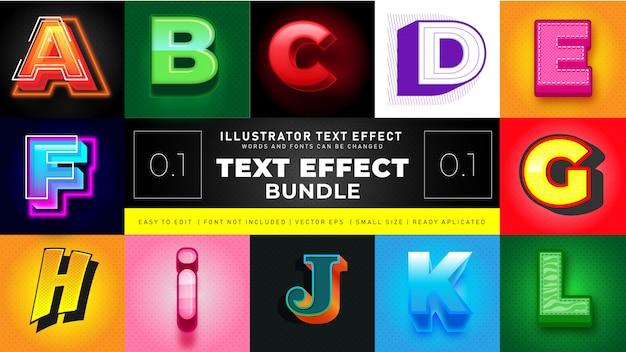Современный текстовый эффект bundle 1