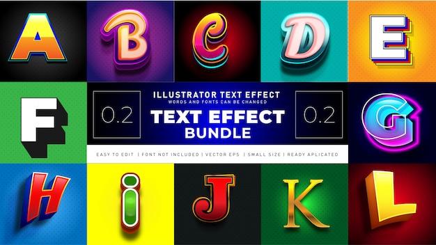 Современный текстовый эффект bundle 2