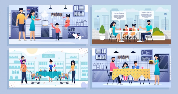 Bundle banner, set landing web page family time