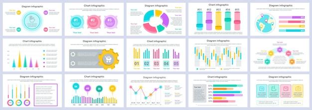 ビジネスと財務のインフォグラフィックプレゼンテーションスライドテンプレートをバンドルする