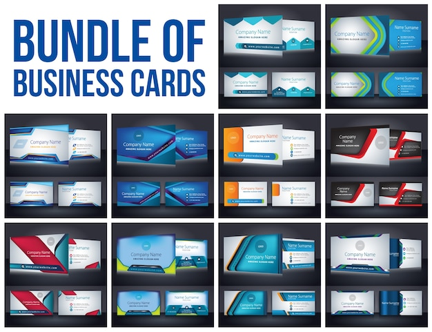 Bundle of business cards